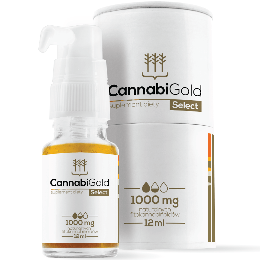 CANNABIGOLD SELECT OLEJEK KONOPNY 1000MG CBD 12ML