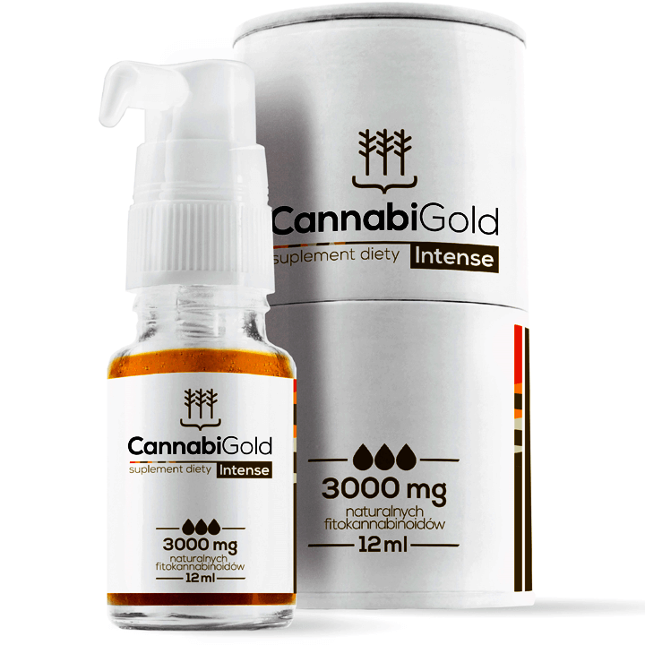 CANNABIGOLD INTENSE 3000MG OLEJEK KONOPNY CBD 30% 12ML