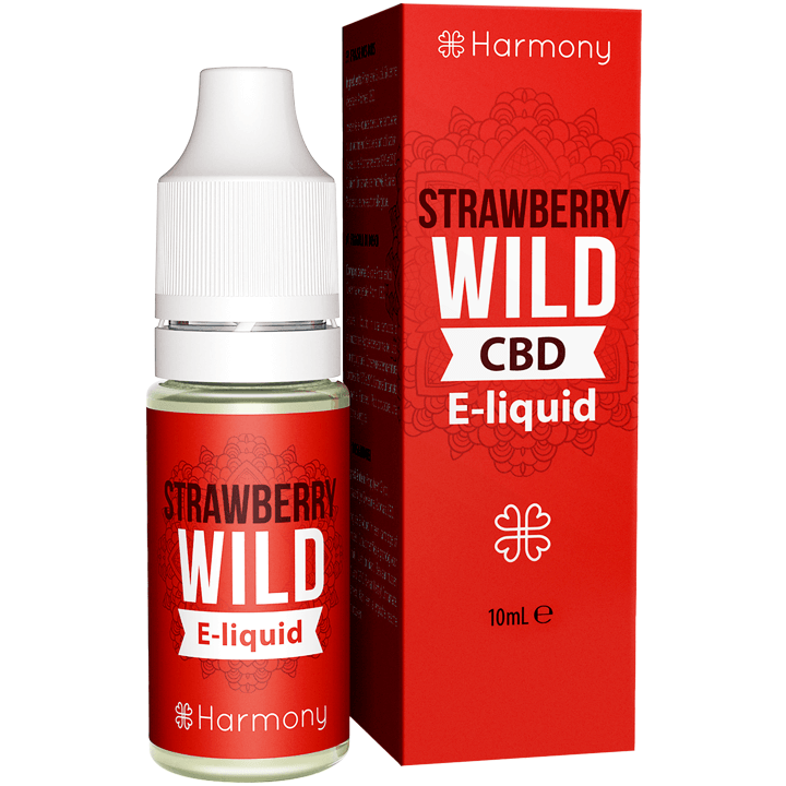 HARMONY STRAWBERRY WILD KONOPNY E-LIQUID Z CBD 10ML