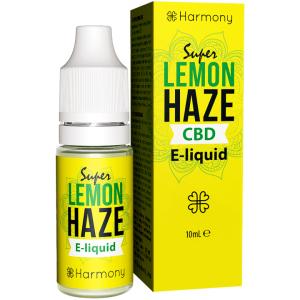 Konopny, cytrynowy E-Liquid Harmony Super Lemon Haze z CBD