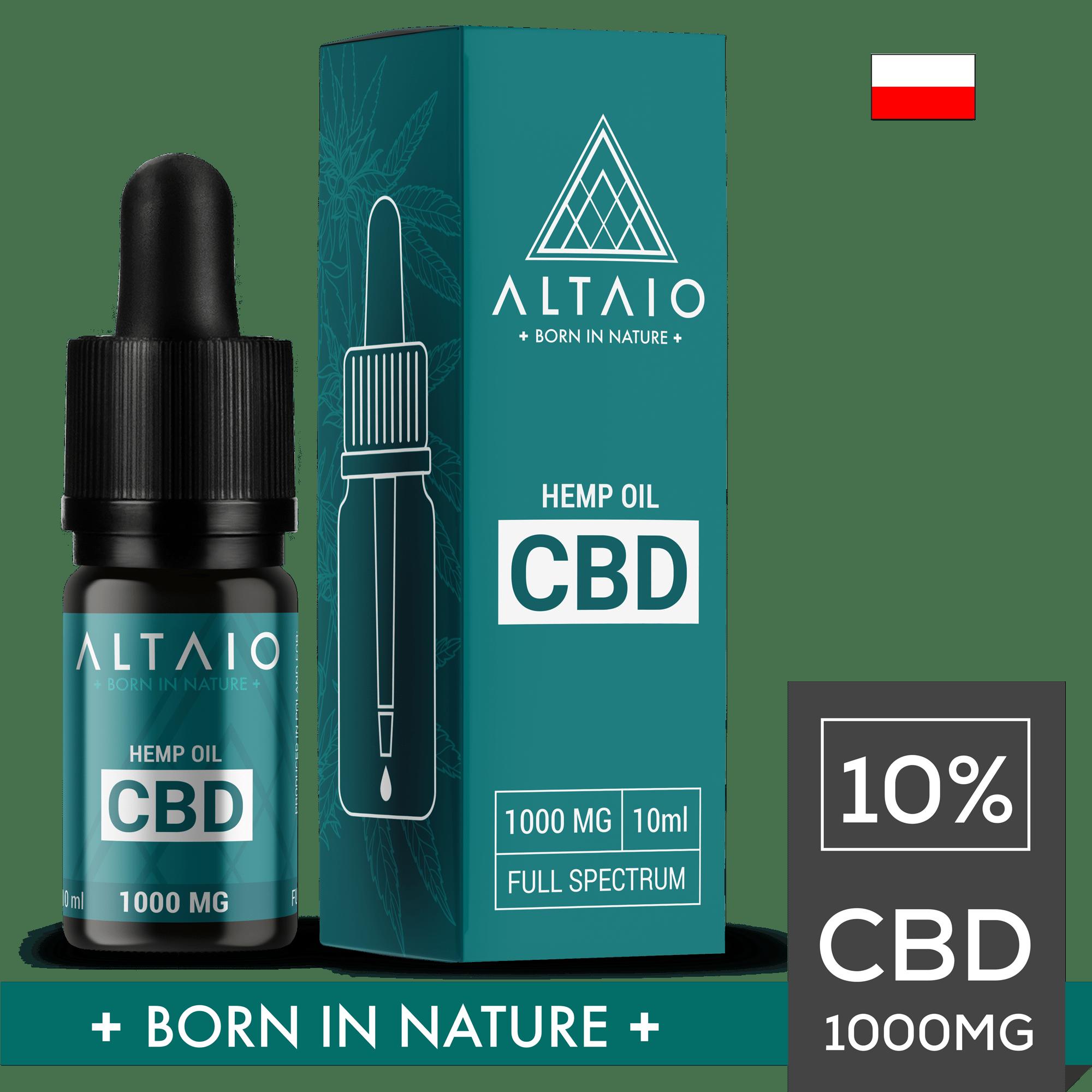 ALTAIO olejek konopny CBD 1000 mg 10 ml