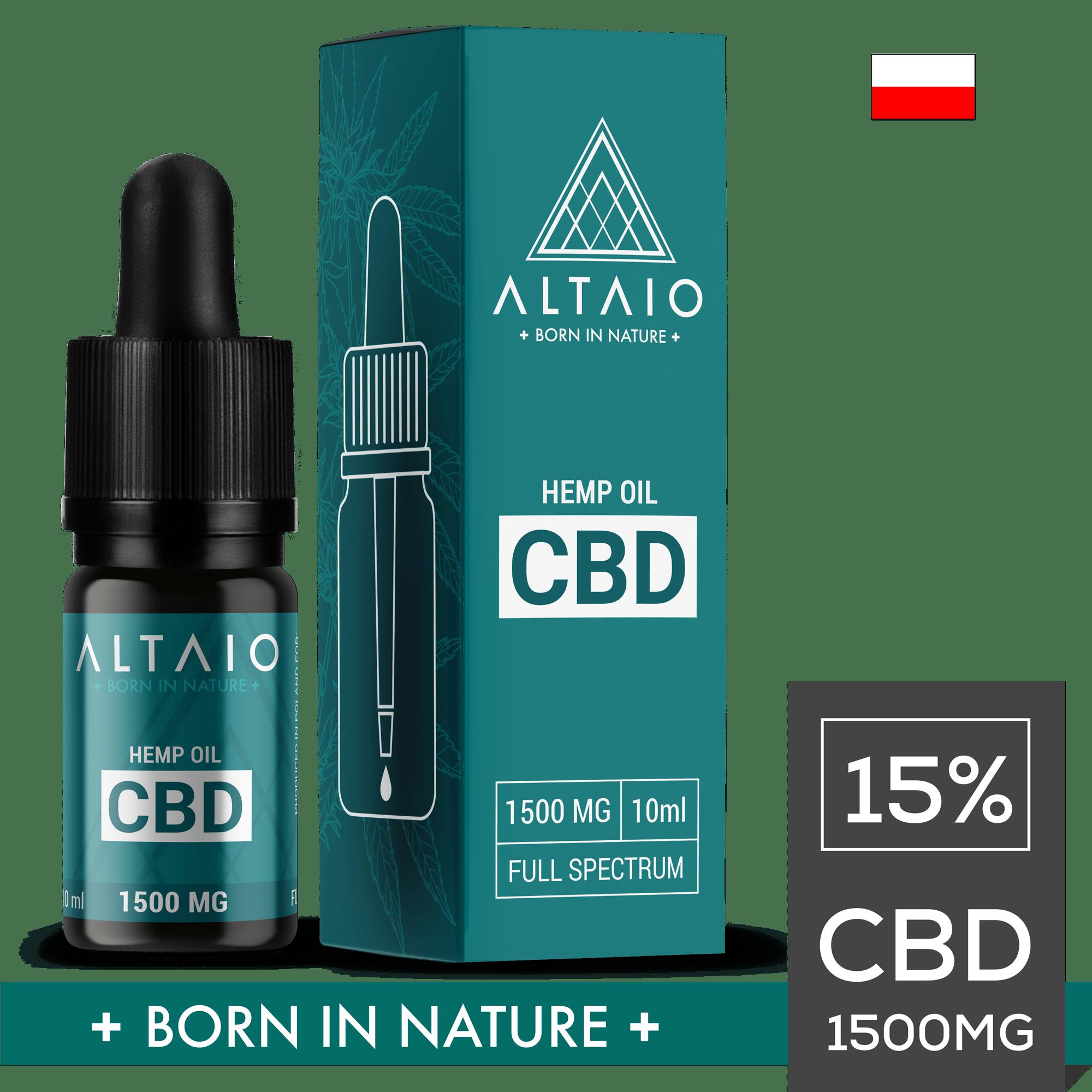 ALTAIO olejek konopny CBD 1500 mg 10 ml