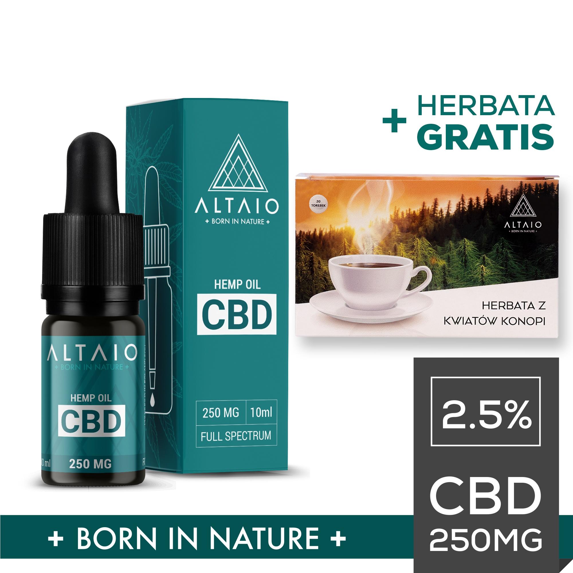ALTAIO olejek konopny CBD  250 mg 10 ml