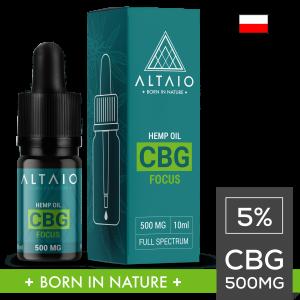 ALTAIO FOCUS olejek konopny CBG 500 mg 10 ml