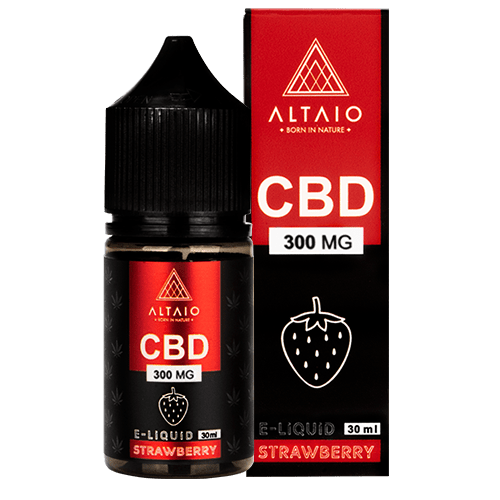 ALTAIO CBD E-LIQUID STRAWBERRY 30 ML 300 MG