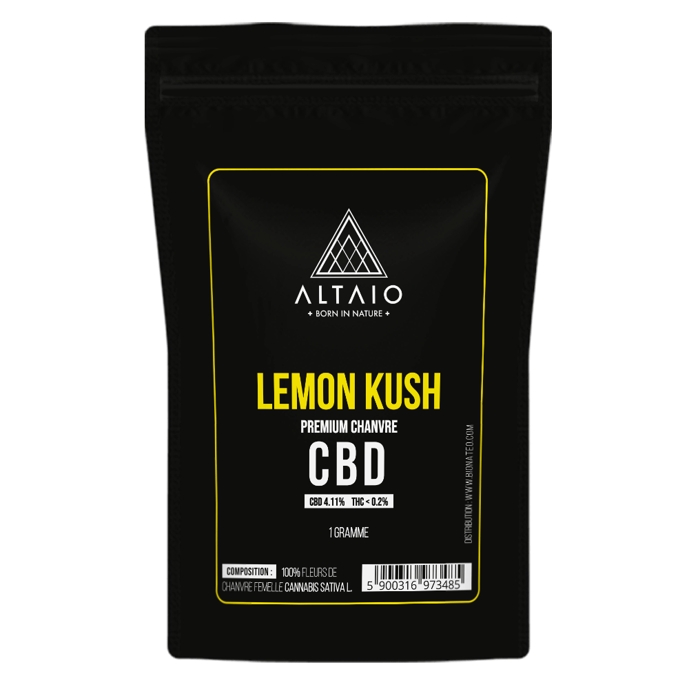 ALTAIO LEMON KUSH SUSZ KONOPNY 4.11% CBD 1G