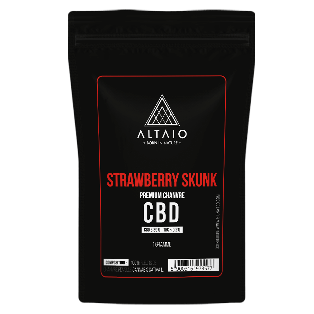 ALTAIO STRAWBERRY SKUNK SUSZ KONOPNY 3.39% CBD 1G