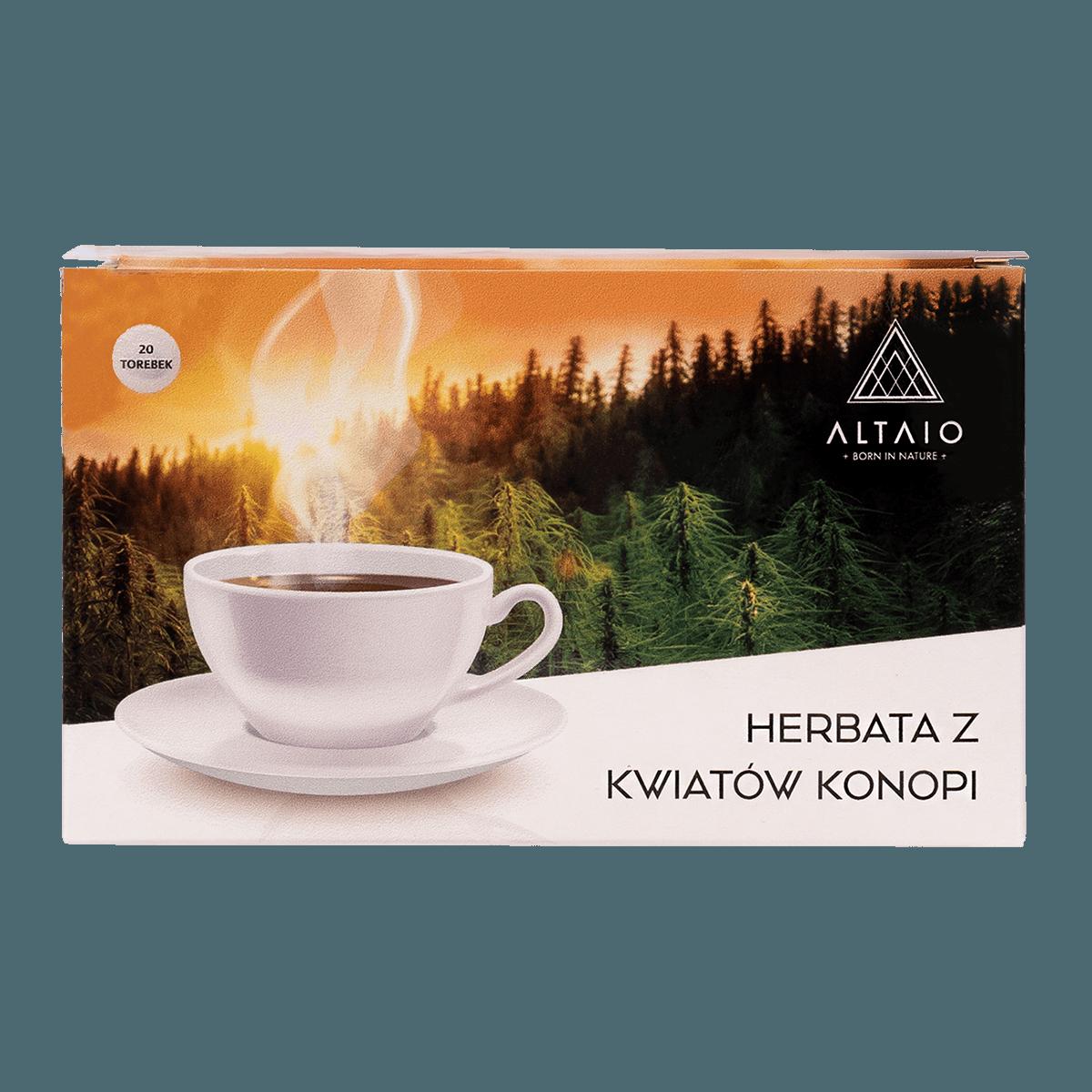 ALTAIO herbata konopna z kwiatów konopi 20 saszetek