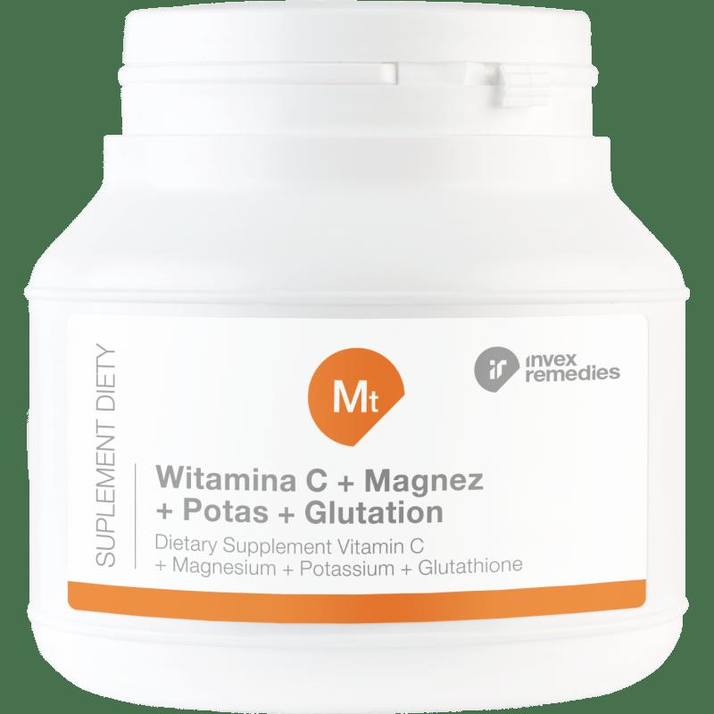 Witamina C + Magnez + Potas + Glutation 150g